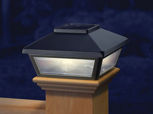 Black Low Profile Solar Light Deck Lighting Solar And