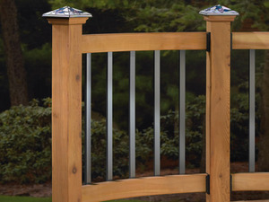 Traditional Series Face Mount Aluminum Baluster Deck